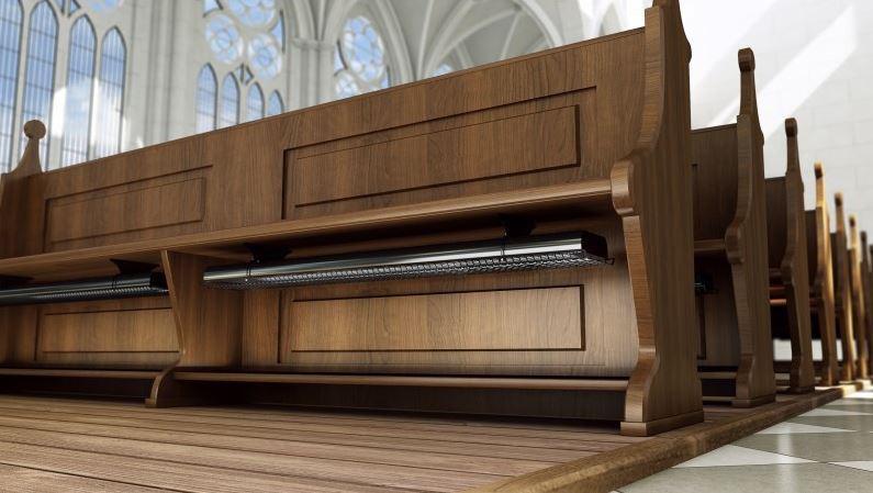 Nuevo panel radiante CH para bancos de iglesias