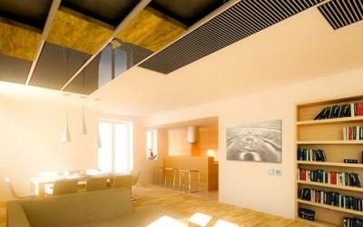 Film radiante de techo