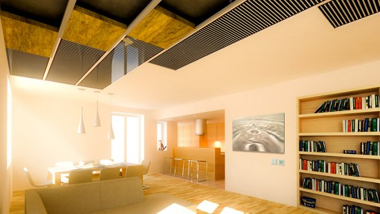 Ceiling heating films