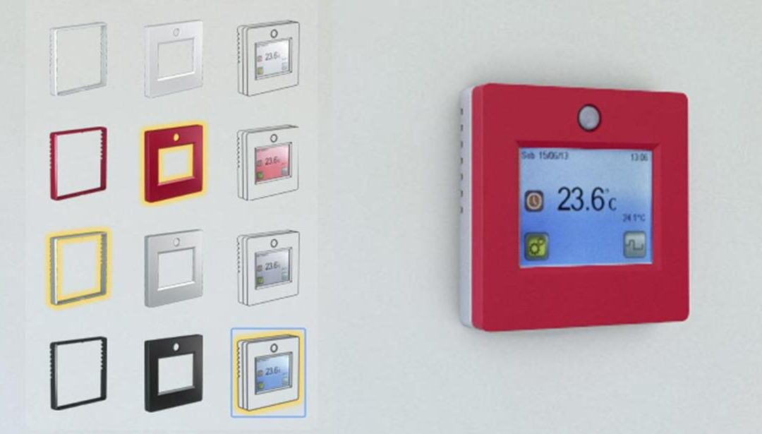 TFT II : TFT thermostat now available with modular color frames.