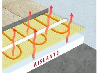 Instalación de suelo radiante eléctrico por manta calefactora